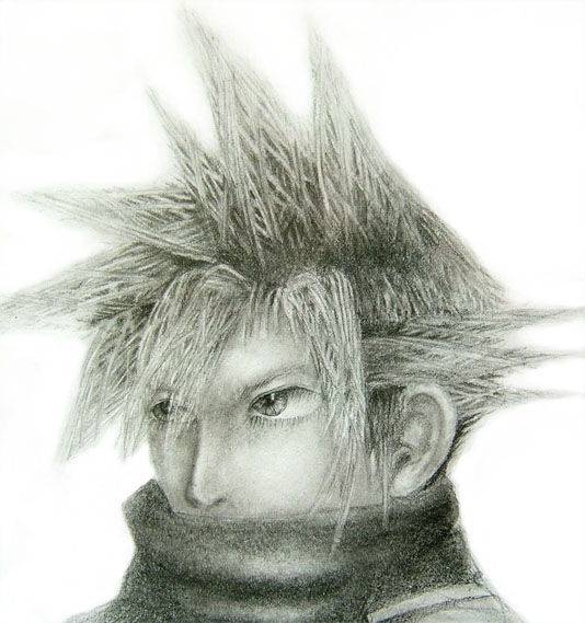 Rem's Drawings =D Cloud_Strife_by_HeatedBark