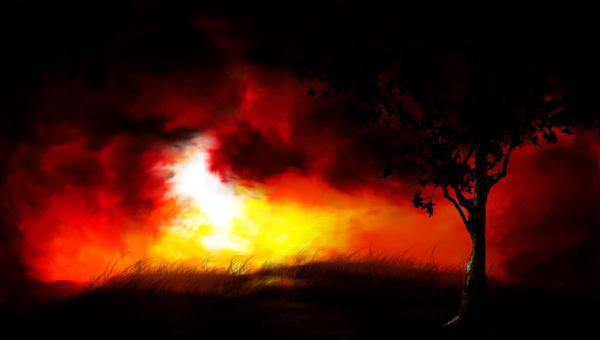 Rem's Drawings =D Sunset_by_HeatedBark
