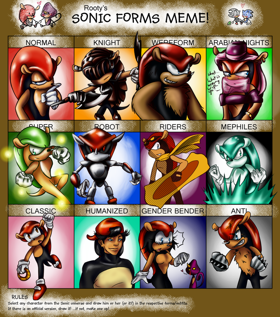 Sonic Forms: Sonic Forms:: Mighty By ShotsOfSunshine On DeviantArt