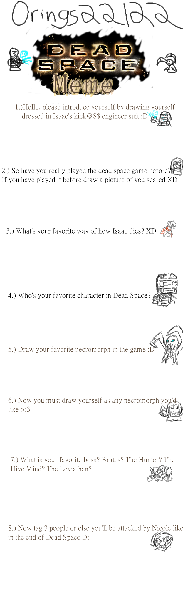 Dead Space Meme Blank by Roselinath