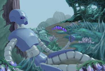 Resting Robot by Drachis