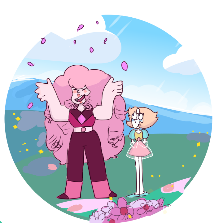 Rose and Pearl from Steven universe! Now We're Only Falling Apart was a fantastic episode, I loved it sm