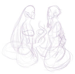 31 Day Challenge - Day 27 Naga Friends by bluebuterflyef