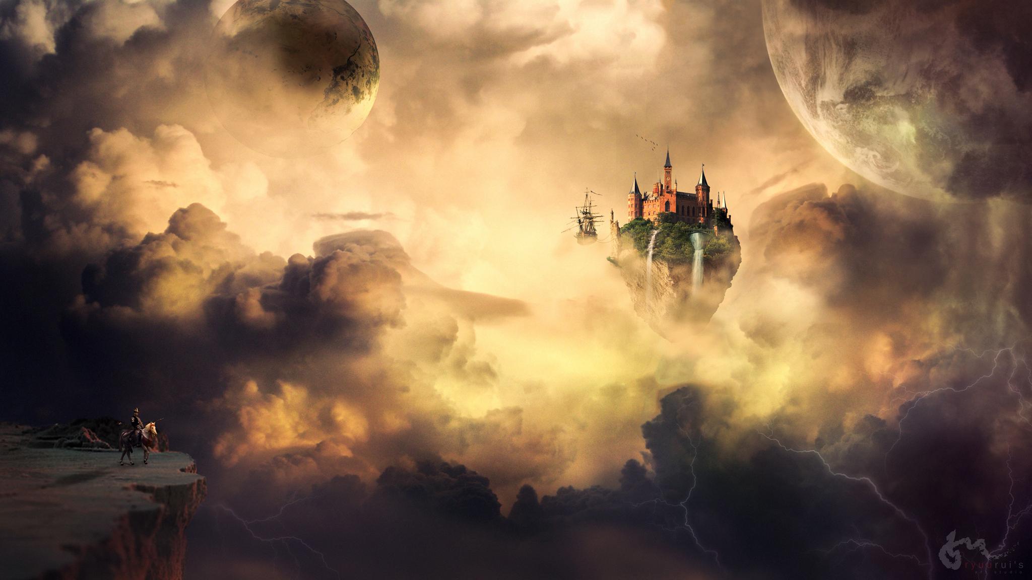 Cloud castle - fantasy landscape by PonteRyuurui on DeviantArt
