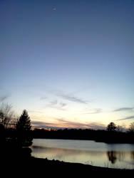 Sunset Over A Lake by KaboomKrusader