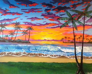 Sunset Paradise by carlyscanvas