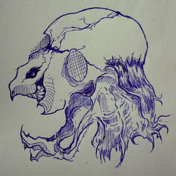 Demon and a Skull