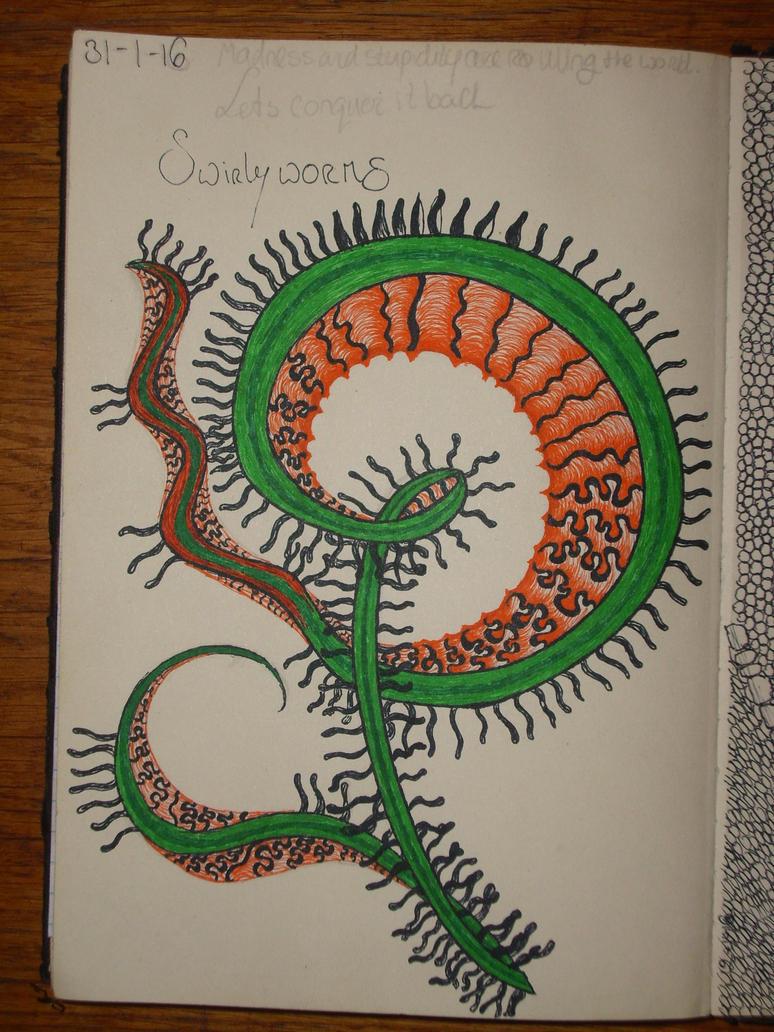 Swirly worms by servetej