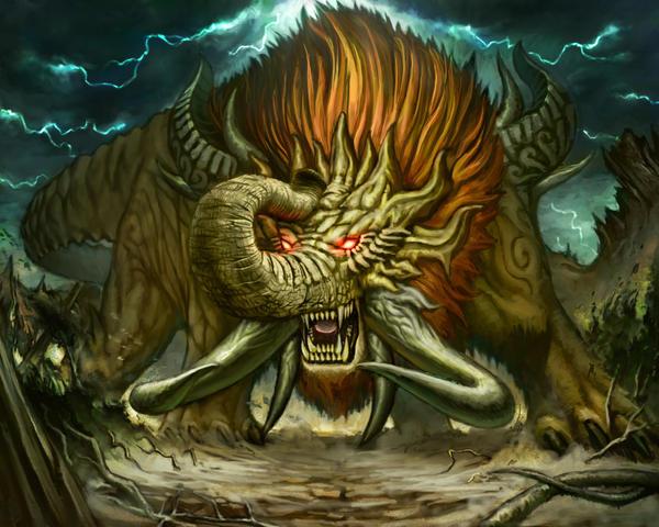 Hutteemo-Ancient Brute by Gandharvasstudio
