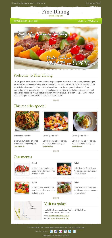 Fine Dining newsletter