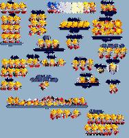 Sonic Reborn Super Sonic Sprite Sheet by WinstonTheEchidna