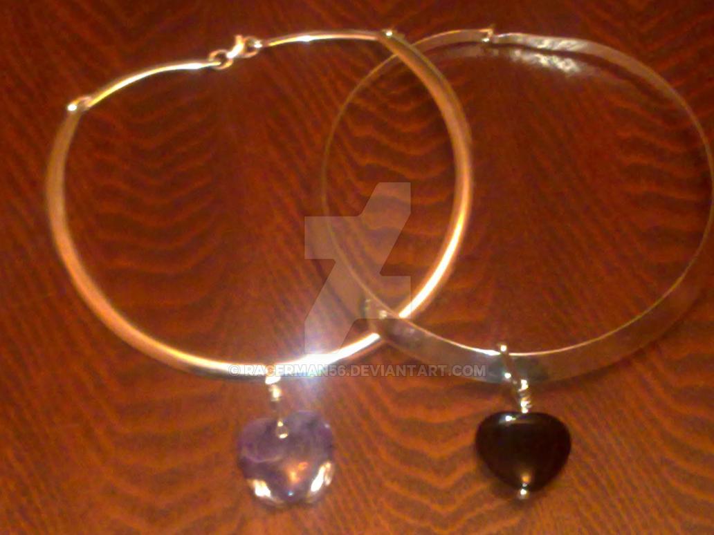 Heart Pendant Collars by racerman56