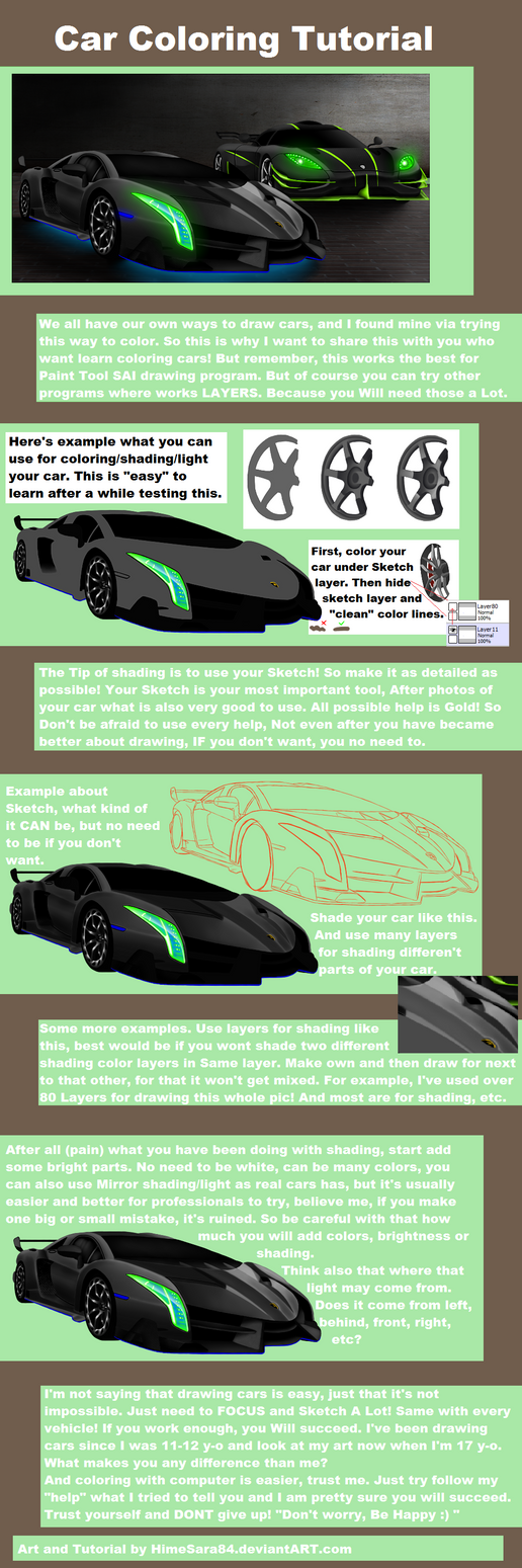 Car Coloring Tutorial by HimeSara84