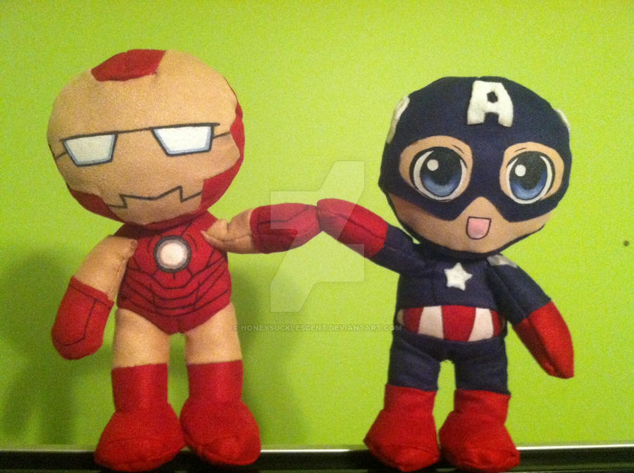 Captain America Plushie by honeysucklescent