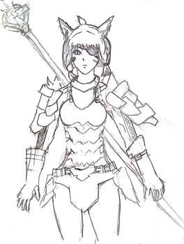 Final Fantasy XIV - Low Gear Lancer Miqo'te