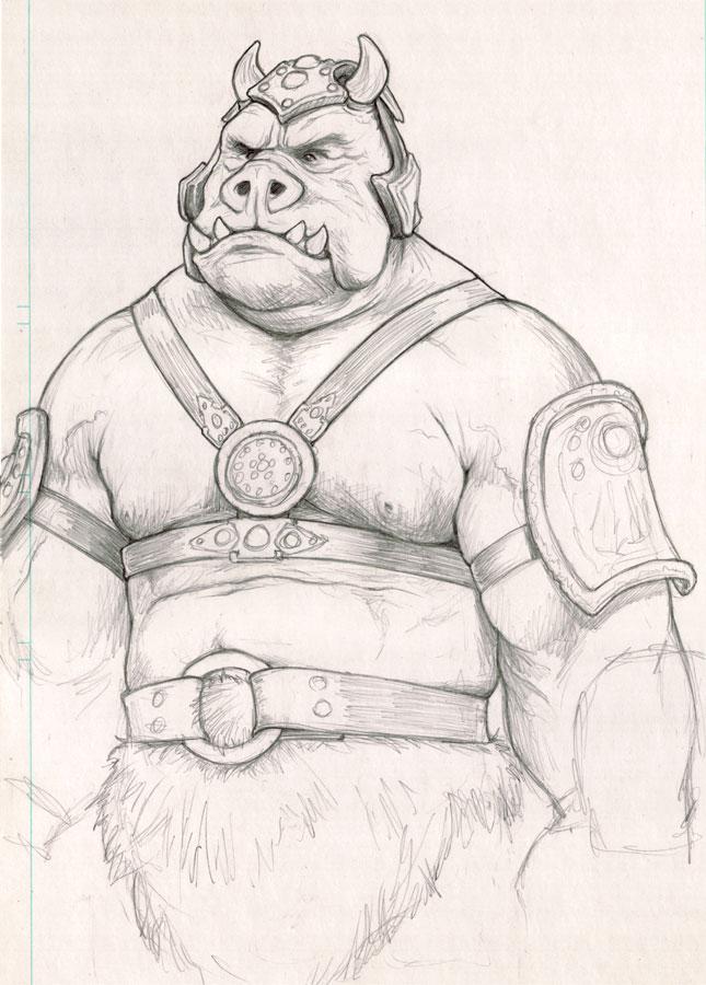 Gamorrean Guard sketch by NMRosario