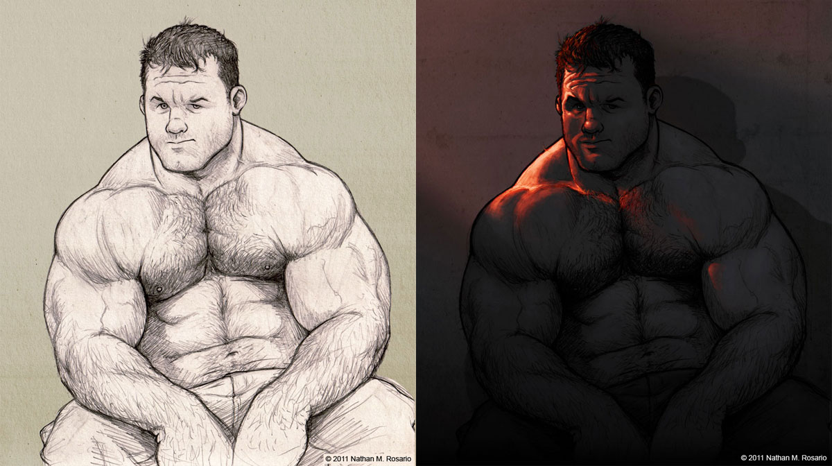 Stump - before and after by NMRosario
