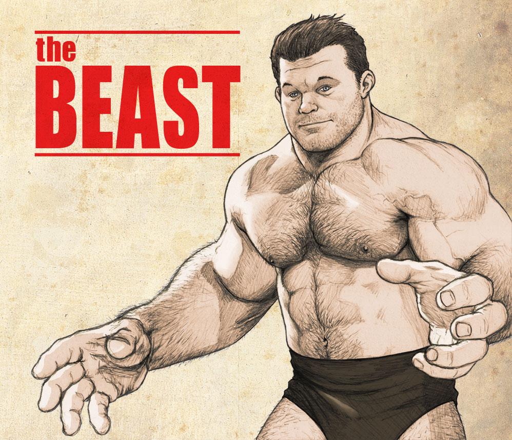 Pro-Wrestler Beast by NMRosario
