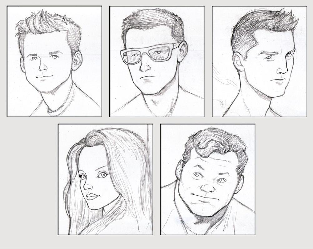 All-New X-Men Team Portraits - pencil sketch by NMRosario
