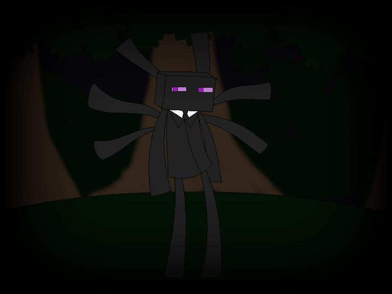 minecraftslendyce enderman dressed as slenderman by