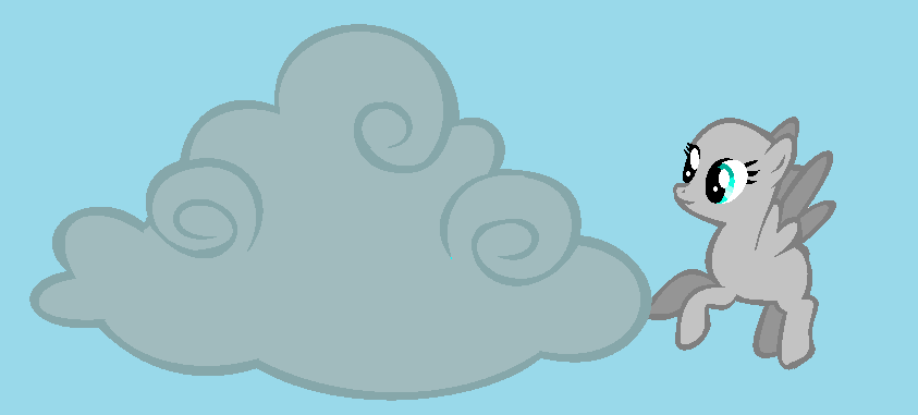 mlp base 3 pegasus and her cloud by iiriggid on deviantart. Black Bedroom Furniture Sets. Home Design Ideas