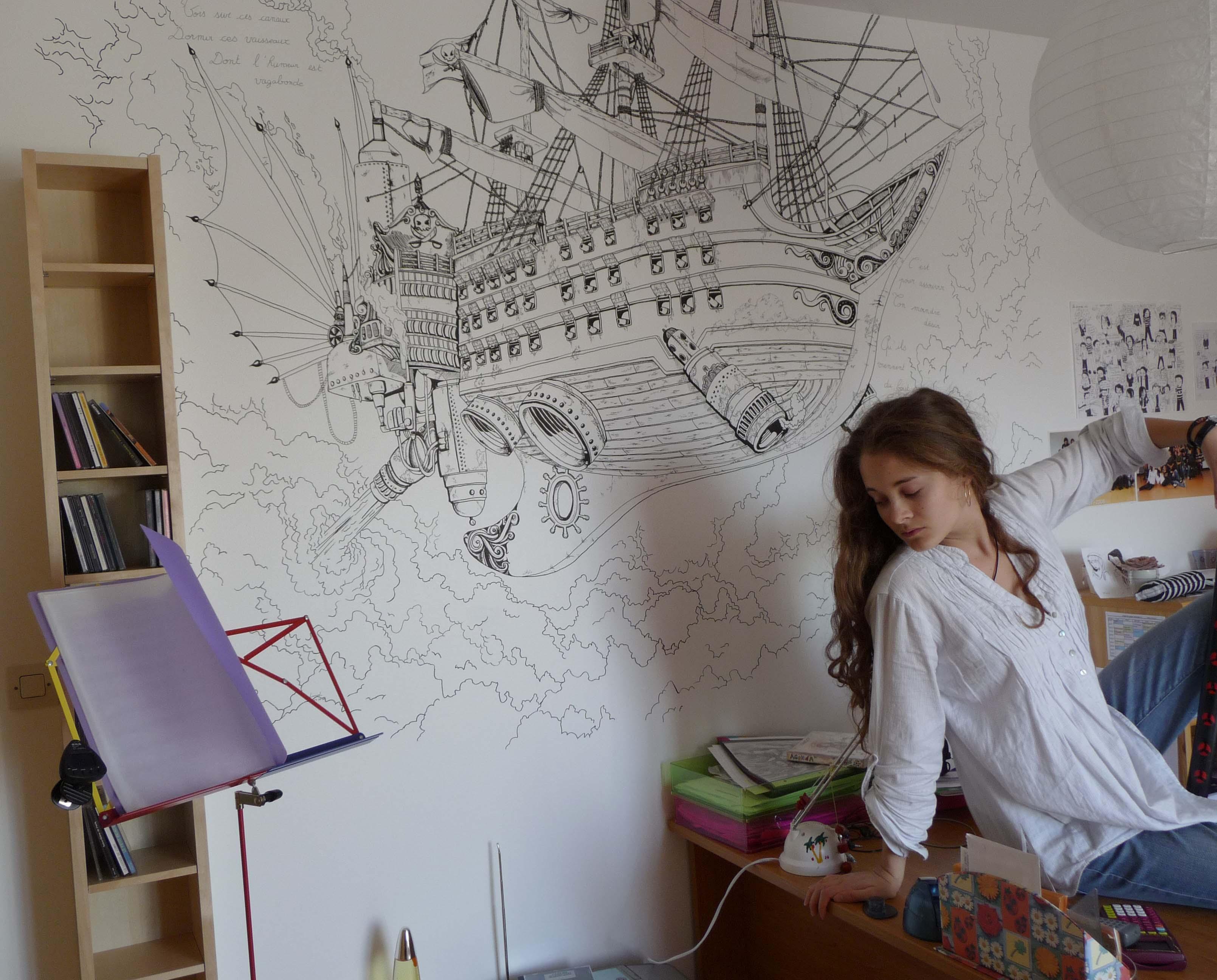 La volont du d afficher le sujet vos dessins for Dessin mural peinture
