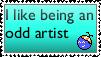 Odd Artist Stamp by blueyescyberdustdrag