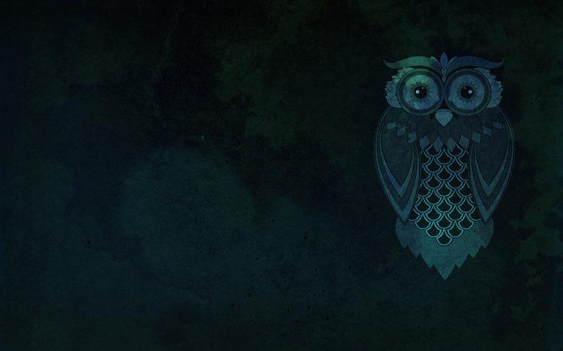 Blue Owl Desktop Wallpaper By KiwiOwl