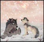 Open your eyes | Art Trade with Winter-Alpha-Wolf