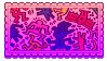 keith haring stamp by molly-stamps