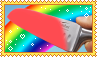 EXPERIMENT Glowing 1000 degree KNIFE VS RAINBOW by molly-stamps