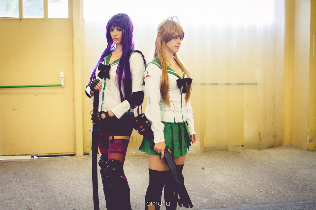 Rei and Saeko by LexiStrife