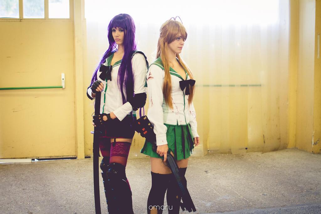 Rei and Saeko by LexiStrife