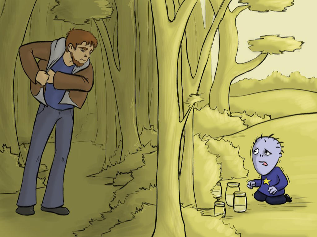 Hear that, Wayne? There's a Man in the Woods