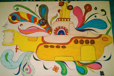My drawing of Yellow Submarine by AraxyLennon-iplier