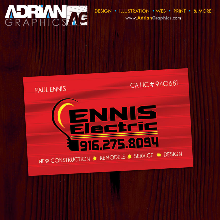 Electrician Business Card Desi by adriangraphicsco on ...