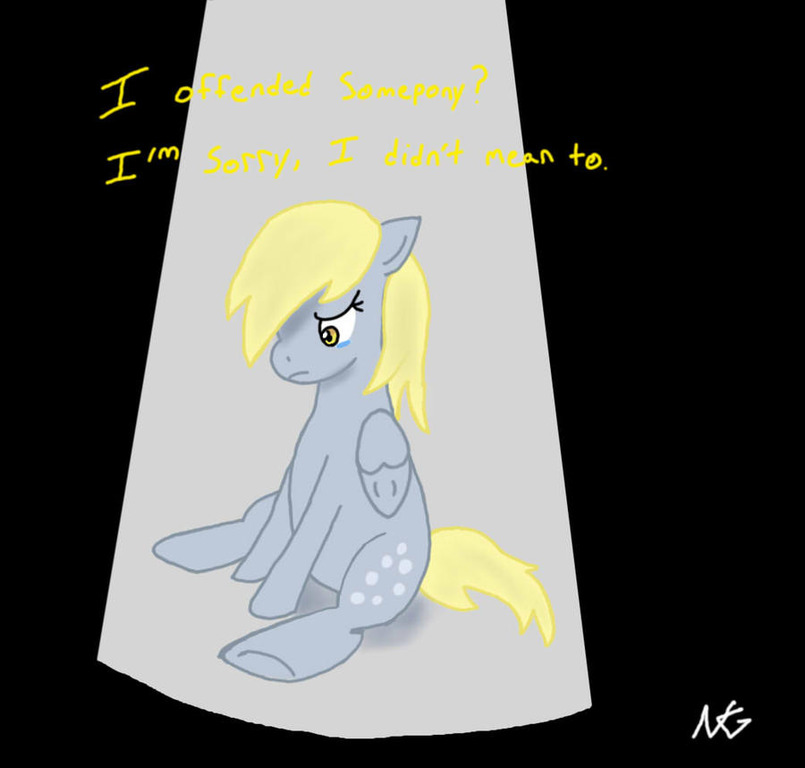 Don't cry Derpy by WolfyOmega