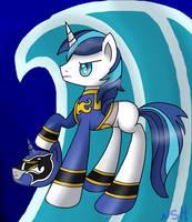 Shining Armor Blue Ranger by WolfyOmega