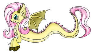 thestral Fluttershy by WolfyOmega
