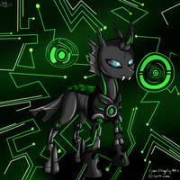 Cyber Changeling by WolfyOmega