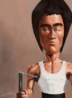 Bruce Lee caricature by AndrewMok