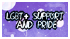LGBT+ support and pride stamp