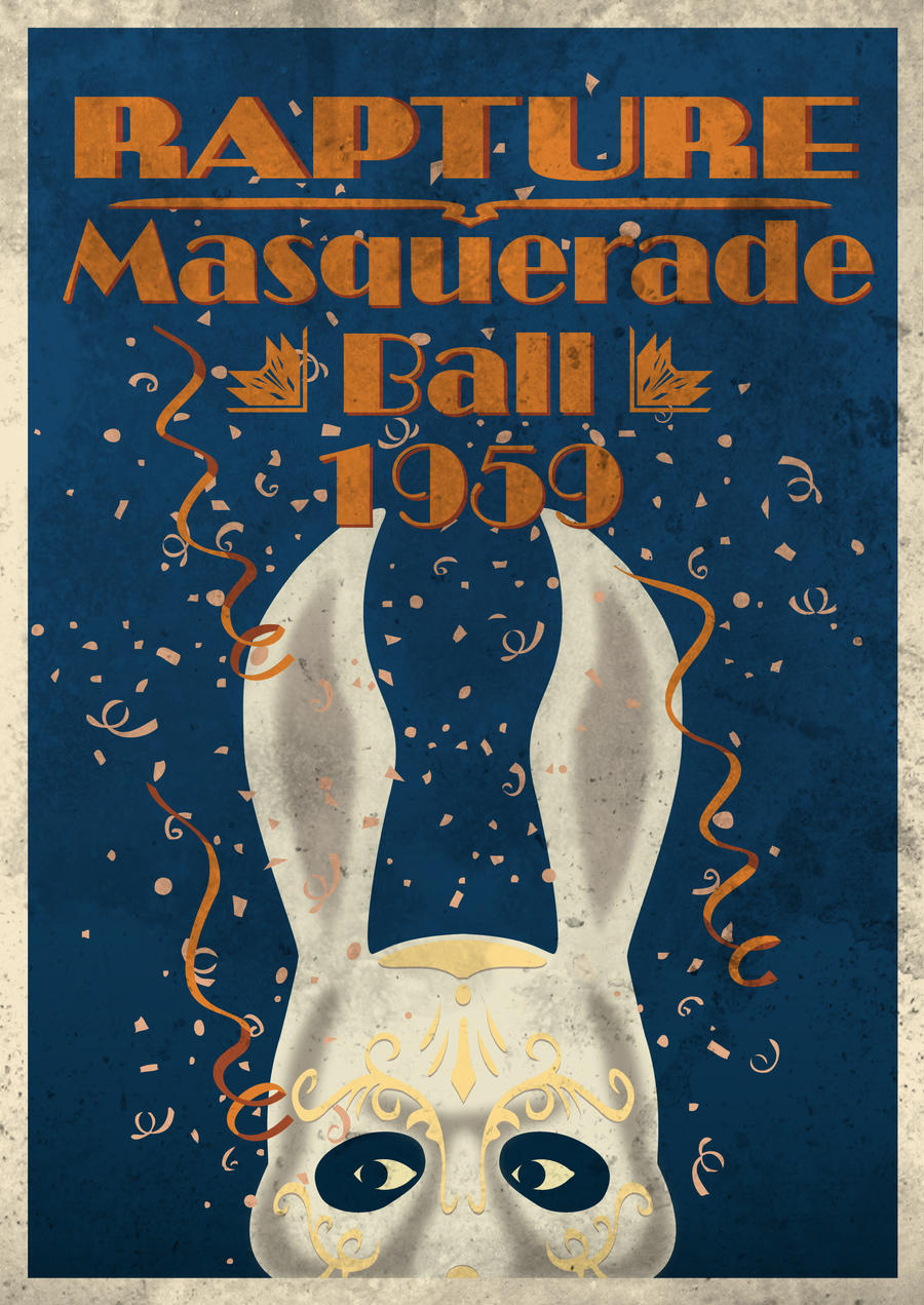 Rapture Masquerade 1959 Poster by vl2r