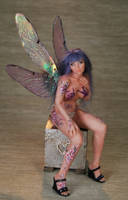 ooak forget-me-not fairy by fairiesndreams