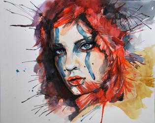 Watercolor Warrior by fairiesndreams