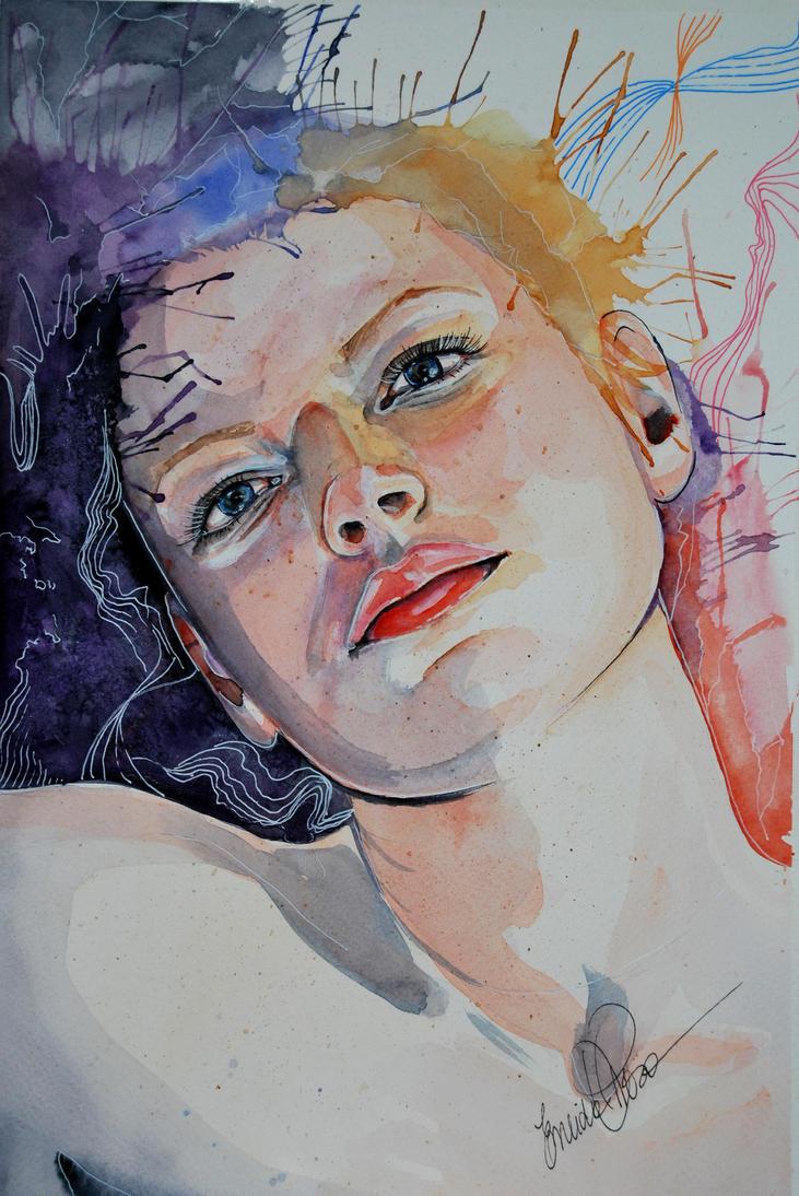 watercolor portrait by fairiesndreams