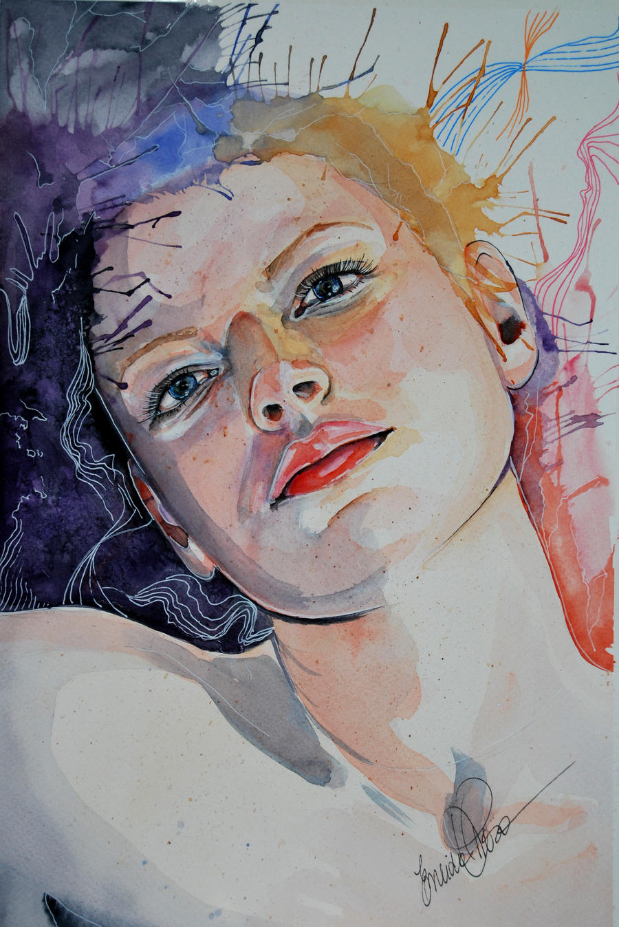 watercolor portrait by fairiesndreams