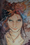 Whats in your head Laura Portrait watercolor