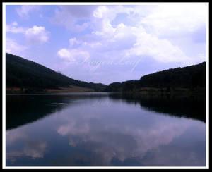 The calmness of Lake Doxa