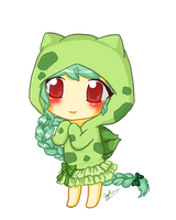 Commission: Bulbasaur hoodie by koffeelam